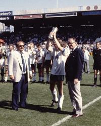 AGF fejring af pokalfinale sejr i 1988